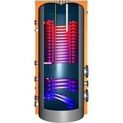 JDWS500 Hochleistungswärmepumpenspeicher mit 2Doppelwendel-Wärmetauscher